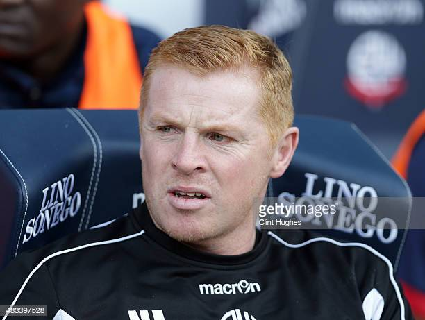 Neil Lennon manager of Bolton Wanderers during the Sky Bet Championship match between Bolton Wanderers and Derby County at the Macron Stadium on...