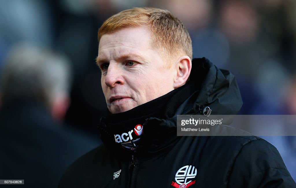 Neil Lennon manager of Bolton Wanderers looks on during The Emirates FA Cup Fourth Round match between Bolton Wanderers and Leeds United at Macron...