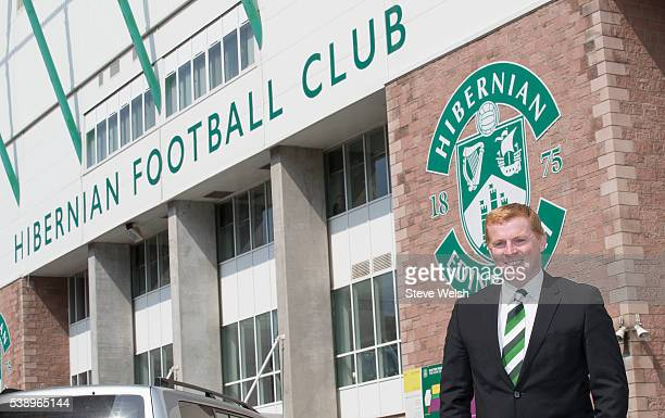 Neil Lennon outside Easter Stadiuam as he is unveiled as the new Hibernian Manager on June 09 2016 in Edinburgh United Kingdom