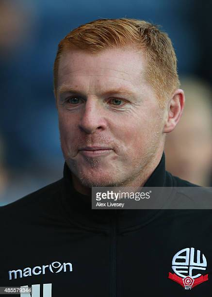 Neil Lennon the manager of Bolton Wanderers looks on prior to the Sky Bet Championship match between Blackburn Rovers and Bolton Wanderers at Ewood...