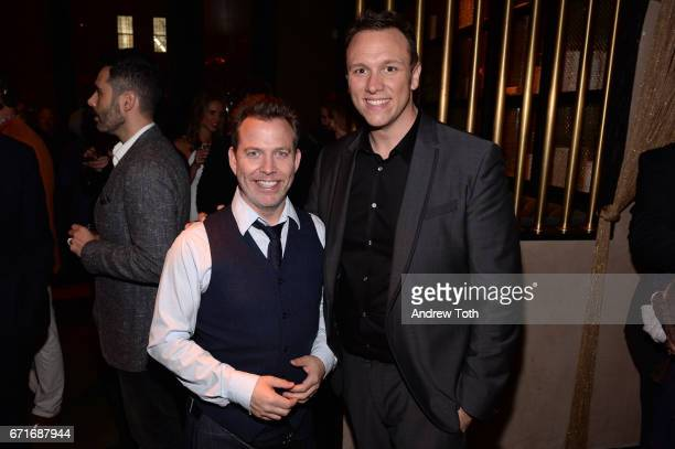 Neil Mandt and Brian Cavallaro attend the after party for Dog Years presented by EFFEN Vodka during 2017 Tribeca Film Festival at The Griffin PopUp...