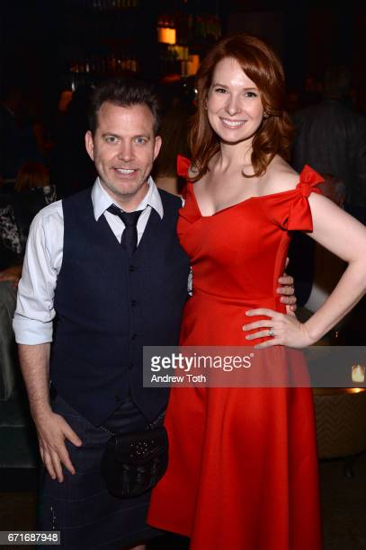 Neil Mandt and Lauren Dixon attend the after party for Dog Years presented by EFFEN Vodka during 2017 Tribeca Film Festival at The Griffin PopUp on...