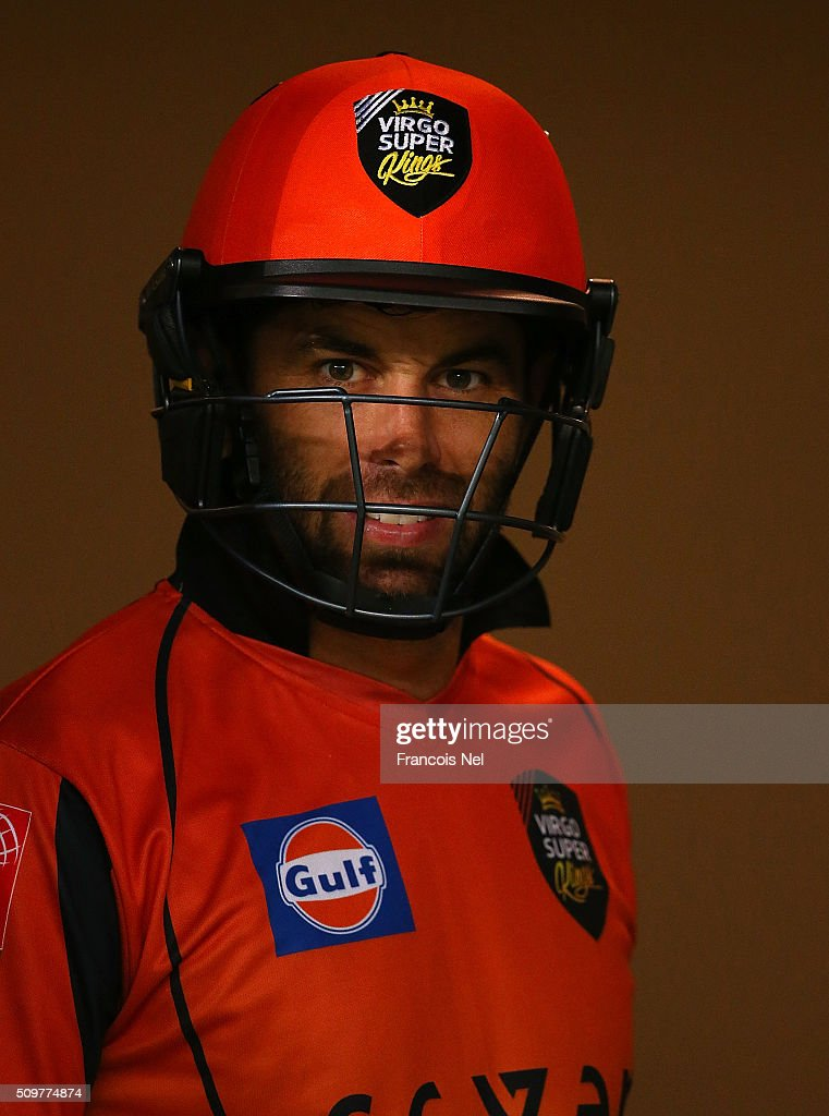 Neil McKenzie of Virgo Super Kings prepares to bat during the Oxigen Masters Champions League Semi Final match between Leo Lions and Virgo Super Kings at Dubai International Cricket Stadium on February 12, 2016 in Dubai, United Arab Emirates.