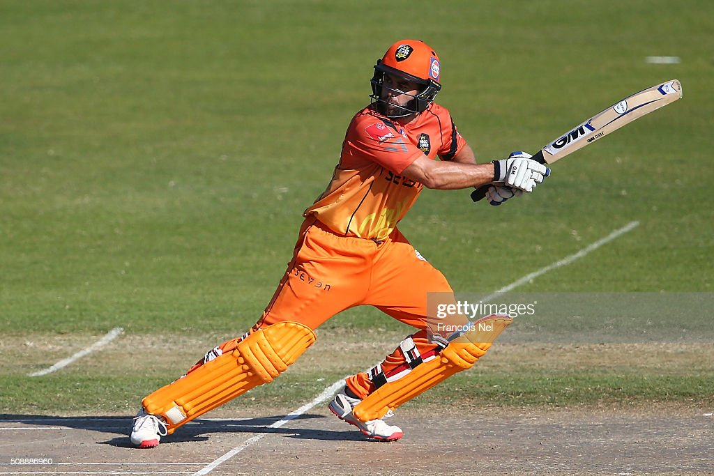 Neil McKenzie the Captain of Virgo Super Kings bats during the Oxigen Masters Champions League match between Virgo Super Kings and Capricorn Commanders on February 7, 2016 in Sharjah, United Arab Emirates.