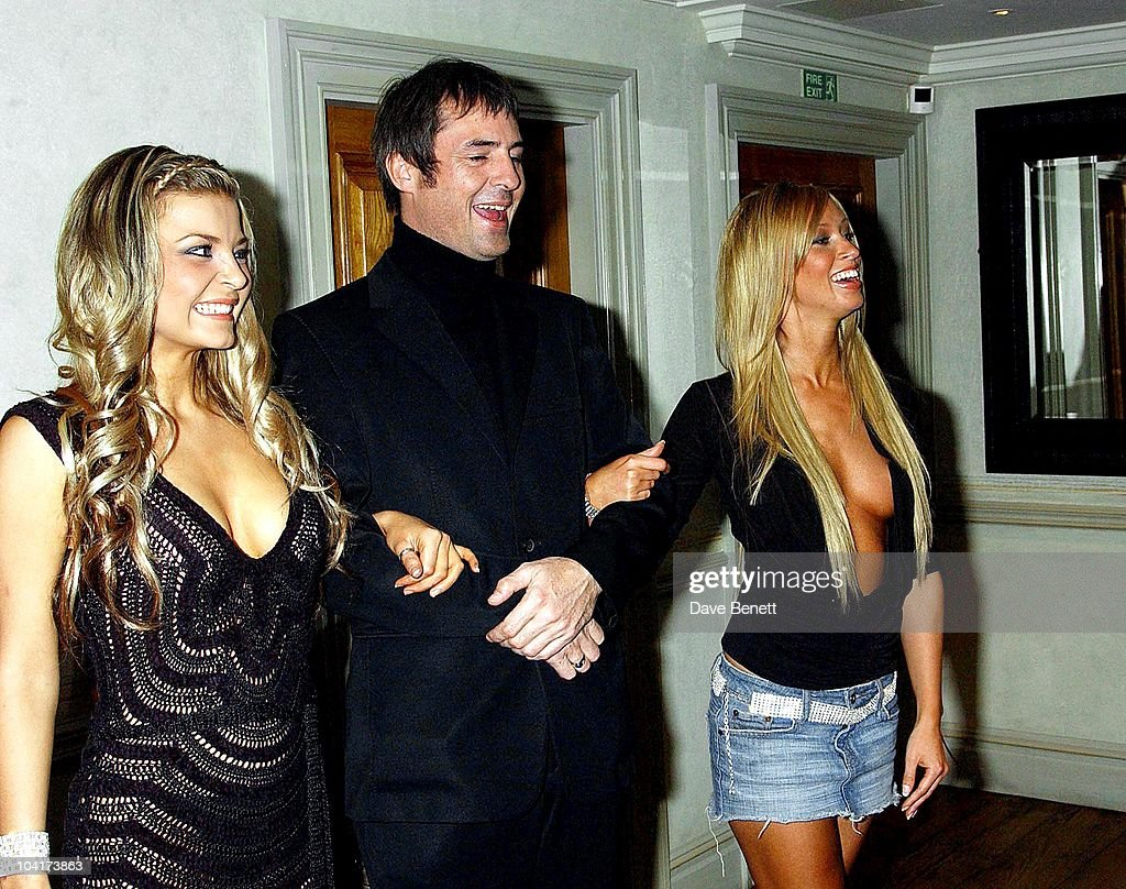 Neil Morrissey And Poster Girls Girls Lauren Pope And Nikki Theobald, 'Triggermen' Premiere At The Charlotte Street Hotel In London
