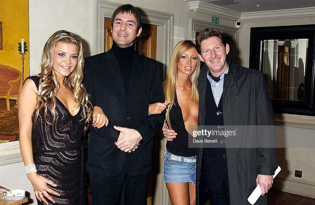 Neil Morrissey With Adrian Dunbar And Poster Girls Girls Lauren Pope And Nikki Theobald, 'Triggermen' Premiere At The Charlotte Street Hotel In London