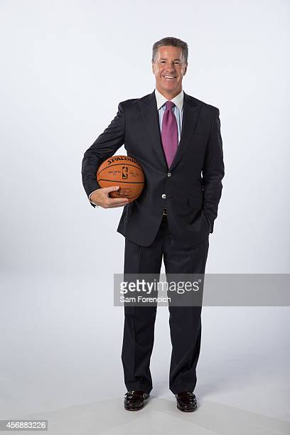 Neil Olshey General Manager of the Portland Trail Blazer poses for photos during the teams annual Media Day September 29 2014 at the Veterans...