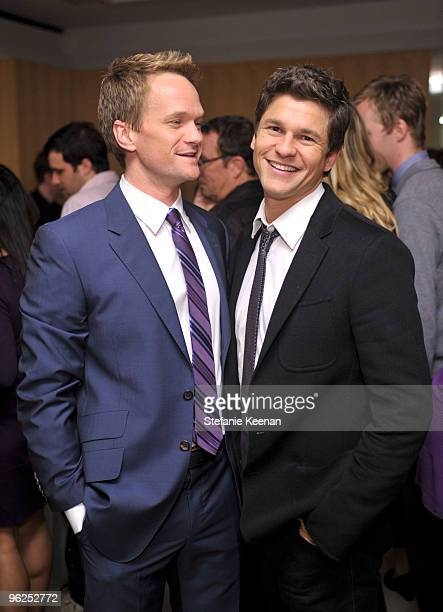Neil Patrick Harris and David Burtka appears at ALAC Opening Night at Pacific Design Center on January 28 2010 in West Hollywood California