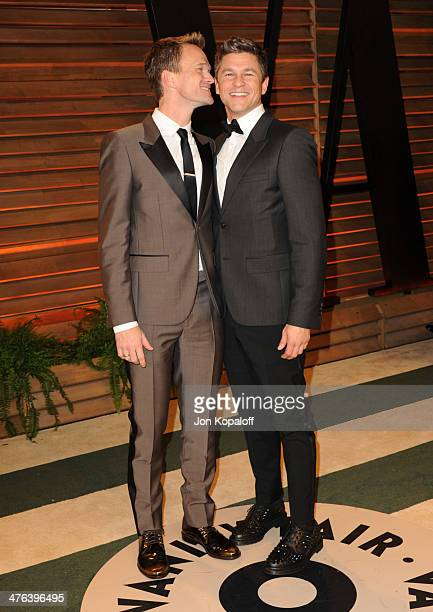 Neil Patrick Harris and David Burtka attend the 2014 Vanity Fair Oscar Party hosted by Graydon Carter on March 2 2014 in West Hollywood California