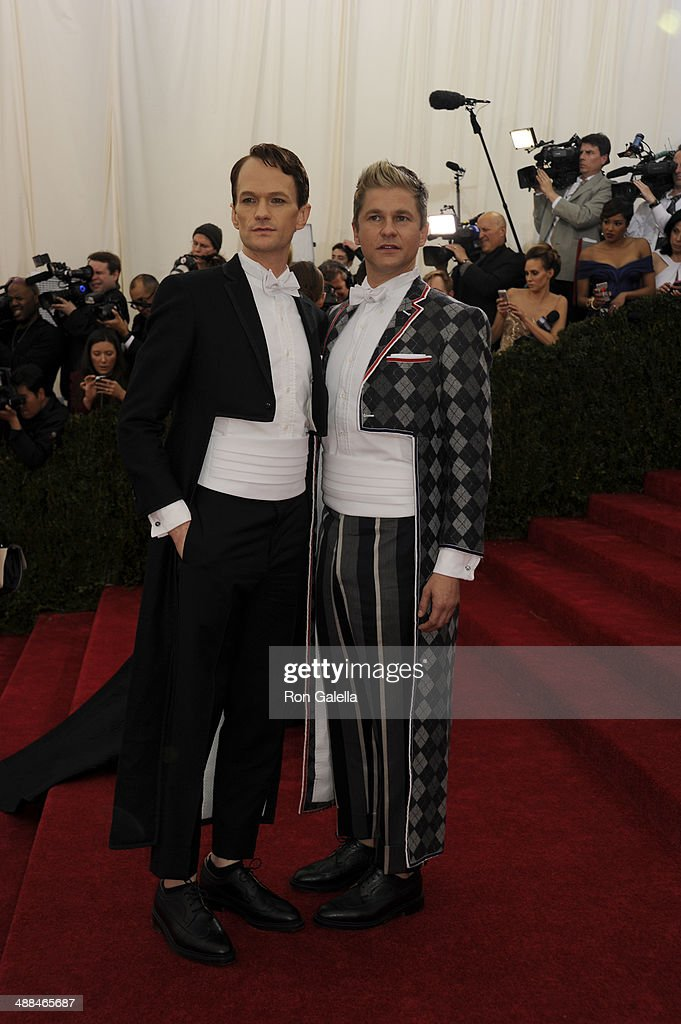 Neil Patrick Harris and David Burtka attend the 'Charles James: Beyond Fashion' Costume Institute Gala at the Metropolitan Museum of Art on May 5, 2014 in New York City.