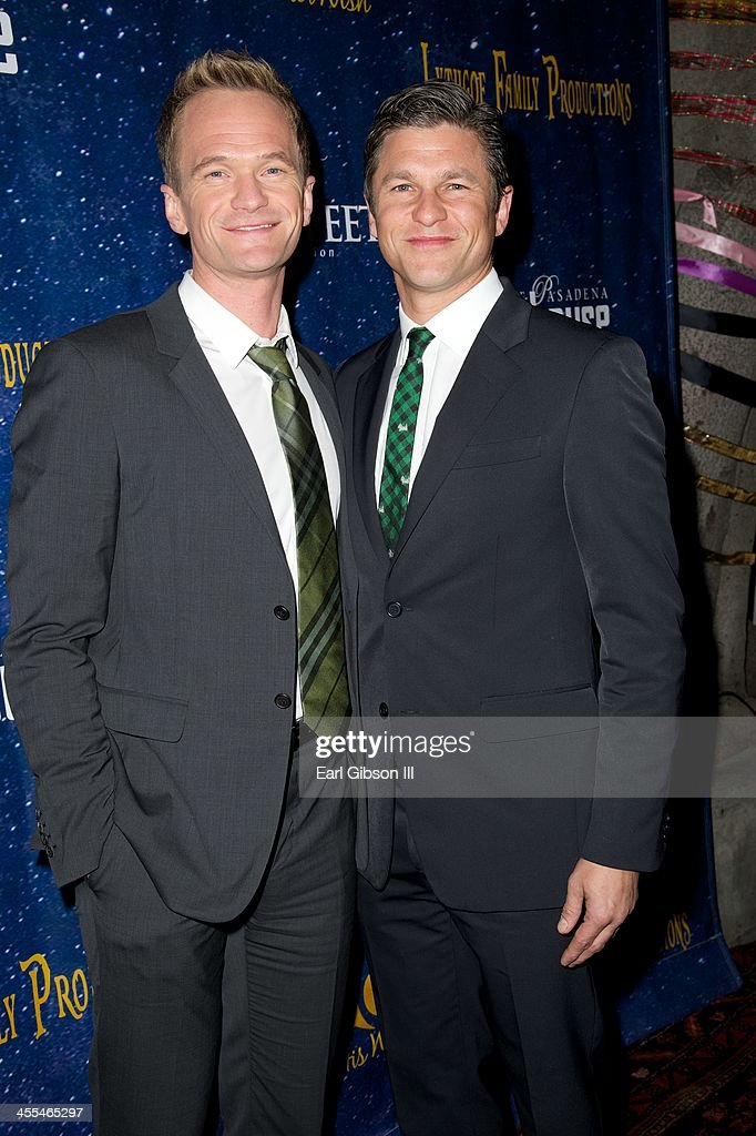 <a gi-track='captionPersonalityLinkClicked' href=/galleries/search?phrase=Neil+Patrick+Harris&family=editorial&specificpeople=210509 ng-click='$event.stopPropagation()'>Neil Patrick Harris</a> and <a gi-track='captionPersonalityLinkClicked' href=/galleries/search?phrase=David+Burtka&family=editorial&specificpeople=572242 ng-click='$event.stopPropagation()'>David Burtka</a> attend the Play 'Aladdin And His Winter Wish' Opening Night at Pasadena Playhouse on December 11, 2013 in Pasadena, California.