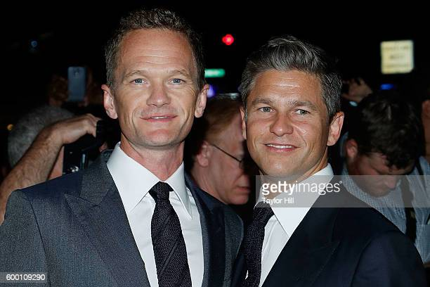 Neil Patrick Harris and David Burtka attend the Tom Ford Fall 2016 fashion show during New York Fashion Week September 2016 at The Four Seasons on...