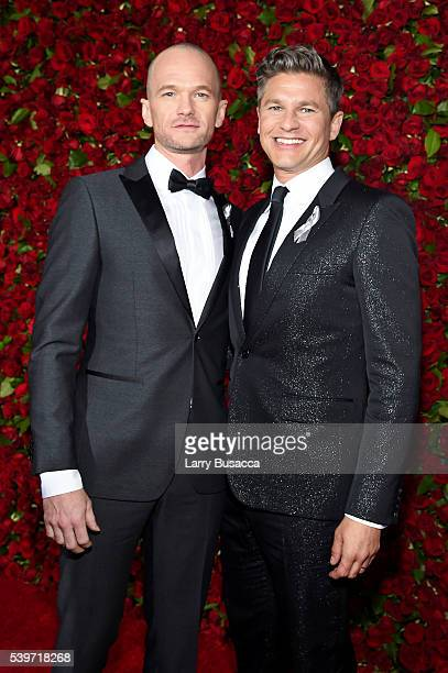 Neil Patrick Harris and David Burtka attends the 70th Annual Tony Awards at The Beacon Theatre on June 12 2016 in New York City