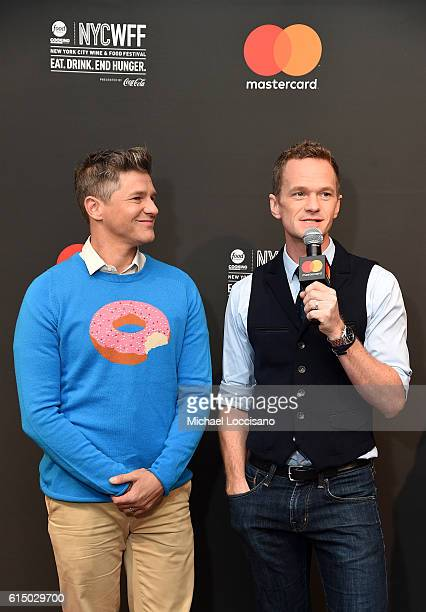 Neil Patrick Harris and David Burtka host Variety presents Broadway Tastes a Mastercard Exclusive event at the Food Network Cooking Channel New York...