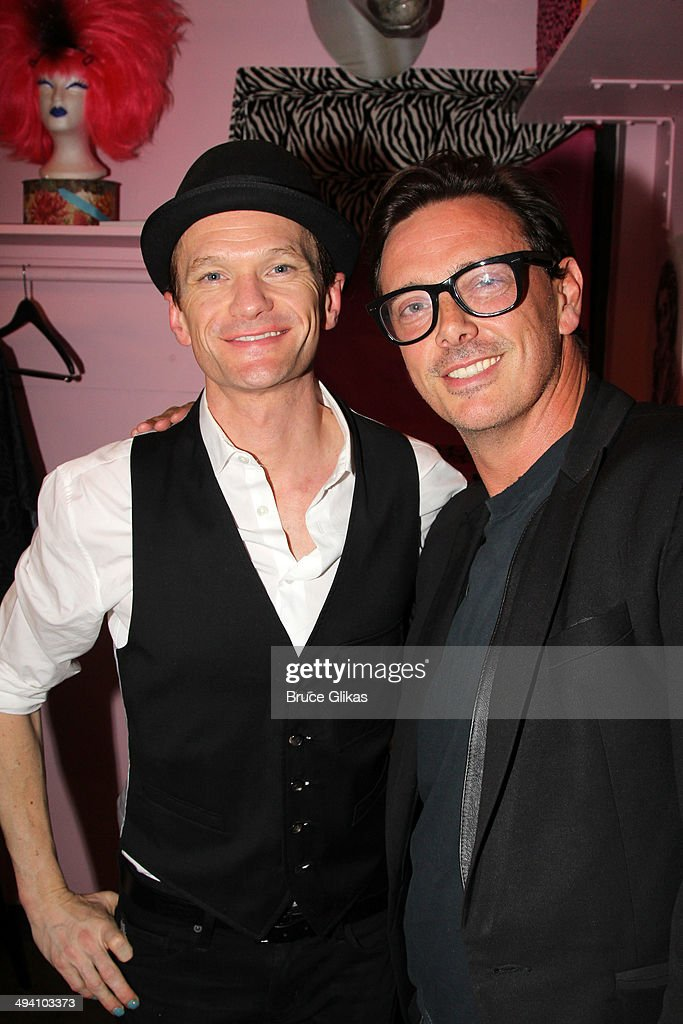 <a gi-track='captionPersonalityLinkClicked' href=/galleries/search?phrase=Neil+Patrick+Harris&family=editorial&specificpeople=210509 ng-click='$event.stopPropagation()'>Neil Patrick Harris</a> and Donovan Leitch (who played 'Hedwig' in a previous production) pose backstage at 'Hedwig and The Angry Inch' on Broadway at The Belasco Theater on May 27, 2014 in New York City.
