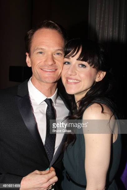 Neil Patrick Harris and Lena Hall pose at the 80th Annual Drama League Awards Ceremony and Luncheon at The Marriot Marquis Times Square on May 16...