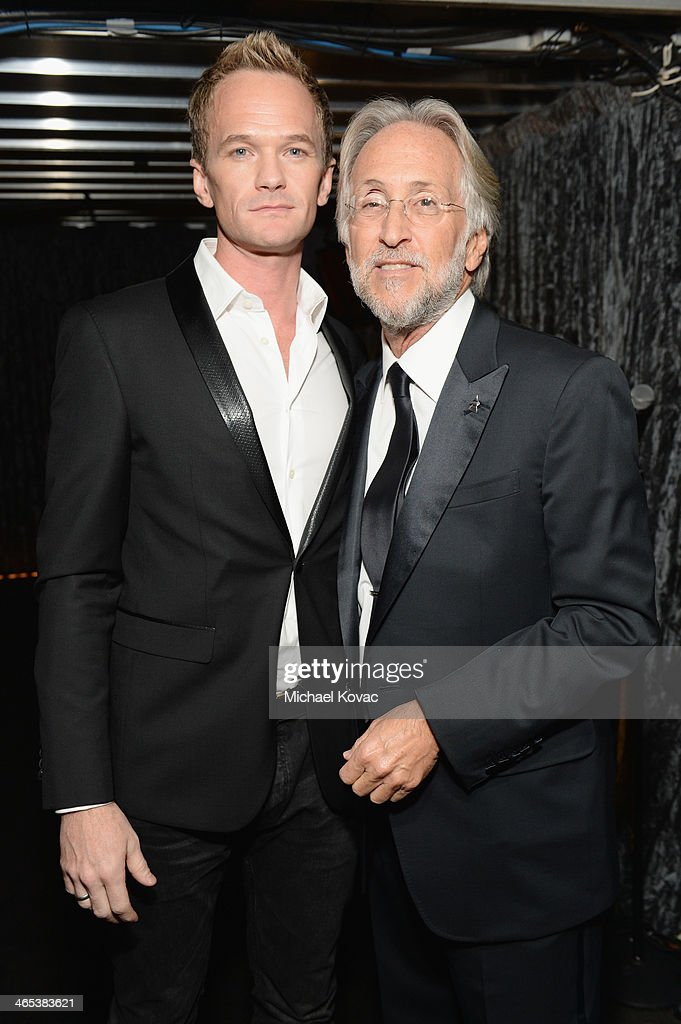 <a gi-track='captionPersonalityLinkClicked' href=/galleries/search?phrase=Neil+Patrick+Harris&family=editorial&specificpeople=210509 ng-click='$event.stopPropagation()'>Neil Patrick Harris</a> and President of the National Academy of Recording Arts and Sciences <a gi-track='captionPersonalityLinkClicked' href=/galleries/search?phrase=Neil+Portnow&family=editorial&specificpeople=208909 ng-click='$event.stopPropagation()'>Neil Portnow</a> attend the 56th GRAMMY Awards at Staples Center on January 26, 2014 in Los Angeles, California.
