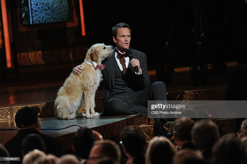 Neil Patrick Harris and Sandy, from the play Annie during THE 67TH ANNUAL TONY AWARDS broadcast live from Radio City Music Hall in New York City, Sunday, June 9 (8:00-11:00 PM, live ET/delayed PT) on the CBS Television Network.