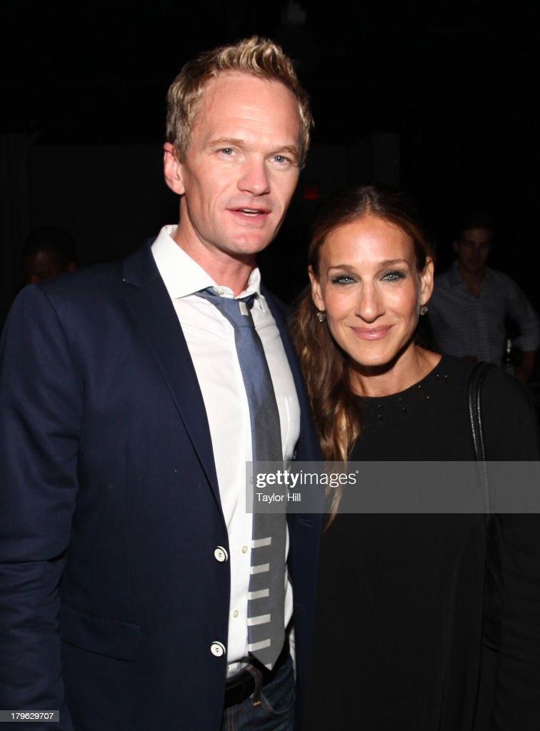 <a gi-track='captionPersonalityLinkClicked' href=/galleries/search?phrase=Neil+Patrick+Harris&family=editorial&specificpeople=210509 ng-click='$event.stopPropagation()'>Neil Patrick Harris</a> and <a gi-track='captionPersonalityLinkClicked' href=/galleries/search?phrase=Sarah+Jessica+Parker&family=editorial&specificpeople=201693 ng-click='$event.stopPropagation()'>Sarah Jessica Parker</a> attend the Lexus Design Disrupted Fashion Event at SIR Stage 37 on September 5, 2013 in New York City.
