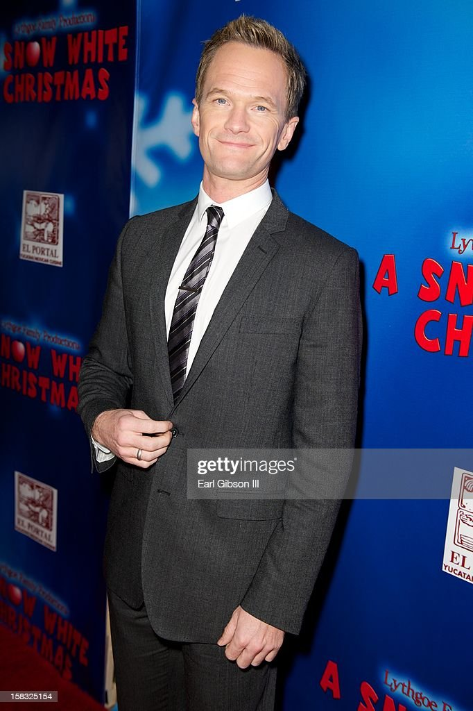 <a gi-track='captionPersonalityLinkClicked' href=/galleries/search?phrase=Neil+Patrick+Harris&family=editorial&specificpeople=210509 ng-click='$event.stopPropagation()'>Neil Patrick Harris</a> attends 'A Snow White Christmas' at the Pasadena Playhouse on December 12, 2012 in Pasadena, California.