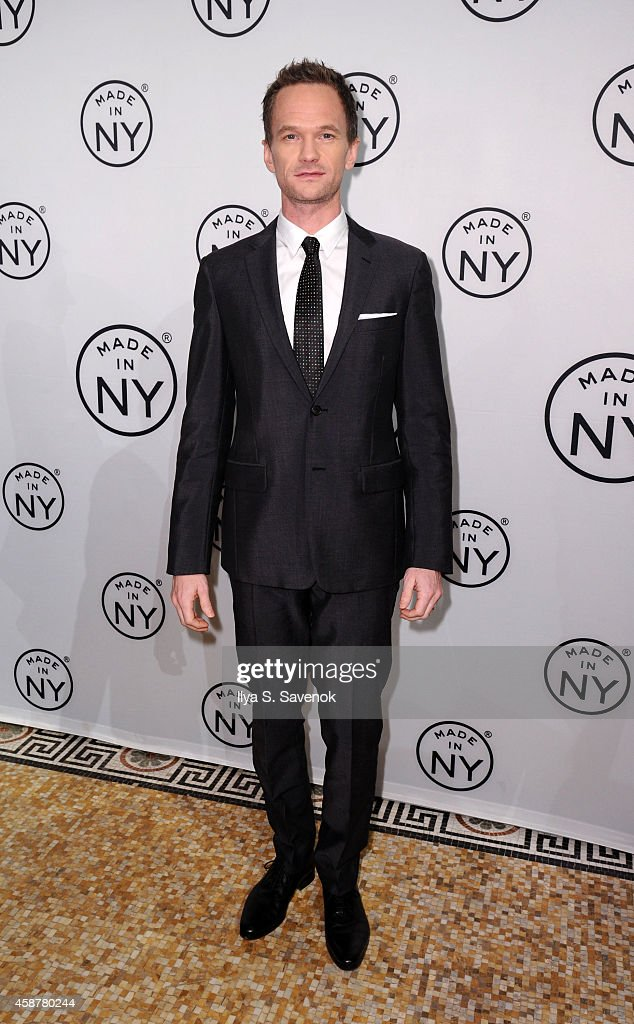 <a gi-track='captionPersonalityLinkClicked' href=/galleries/search?phrase=Neil+Patrick+Harris&family=editorial&specificpeople=210509 ng-click='$event.stopPropagation()'>Neil Patrick Harris</a> attends 'Made In NY' Awards Ceremony at Weylin B. Seymour's on November 10, 2014 in Brooklyn, New York.