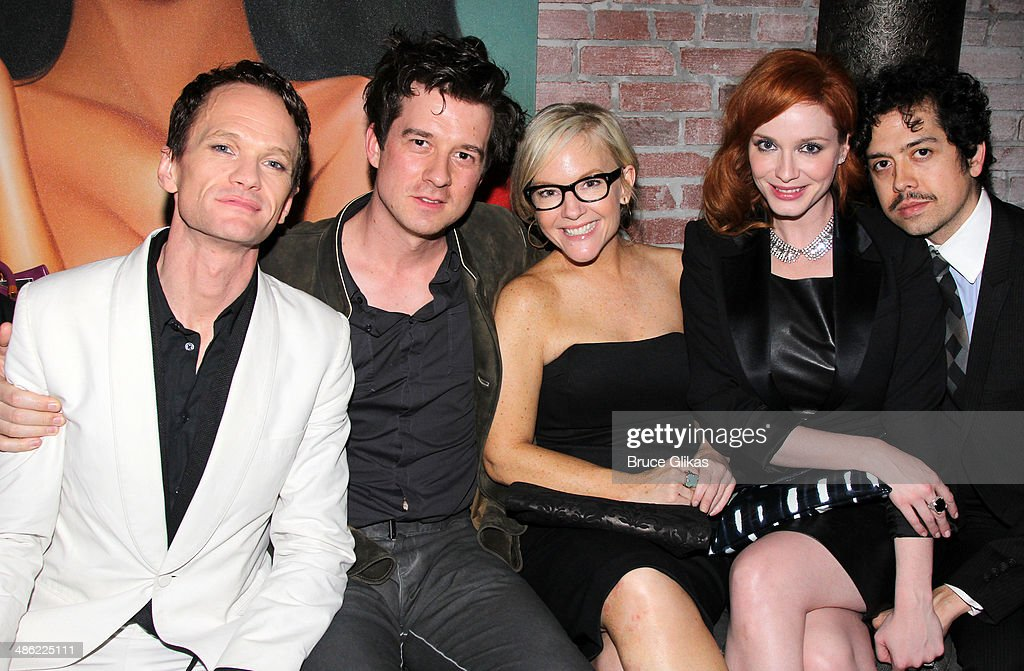 <a gi-track='captionPersonalityLinkClicked' href=/galleries/search?phrase=Neil+Patrick+Harris&family=editorial&specificpeople=210509 ng-click='$event.stopPropagation()'>Neil Patrick Harris</a>, Christian Hebel, <a gi-track='captionPersonalityLinkClicked' href=/galleries/search?phrase=Rachael+Harris&family=editorial&specificpeople=240713 ng-click='$event.stopPropagation()'>Rachael Harris</a>, <a gi-track='captionPersonalityLinkClicked' href=/galleries/search?phrase=Christina+Hendricks&family=editorial&specificpeople=2239736 ng-click='$event.stopPropagation()'>Christina Hendricks</a> and husband Gregory Arend attend the Broadway opening night After Party for 'Hedwig And The Angry Inch' at Tao Downtown at The Maritime Hotel on April 22, 2014 in New York City.