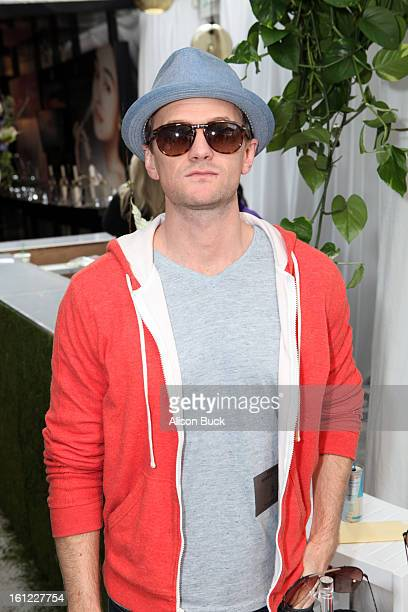Neil Patrick Harris in Carrera PocketFlag3S sunglasses poses with SOLSTICE Sunglasses and Safilo USA during the 55th Annual GRAMMY Awards on February...