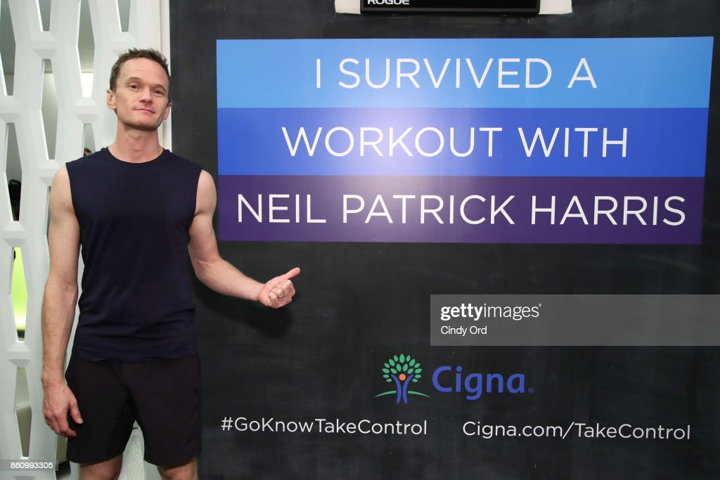 Neil Patrick Harris joins Cigna in a private workout session with media and influencers in NYC as part of the TV Doctors of America Campaign on October 13, 2017 in New York City.