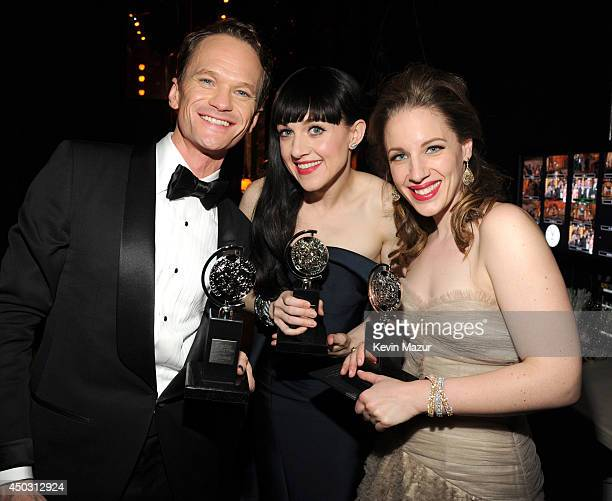Neil Patrick Harris Lena Hall and Jessie Mueller attend the 68th Annual Tony Awards at Radio City Music Hall on June 8 2014 in New York City