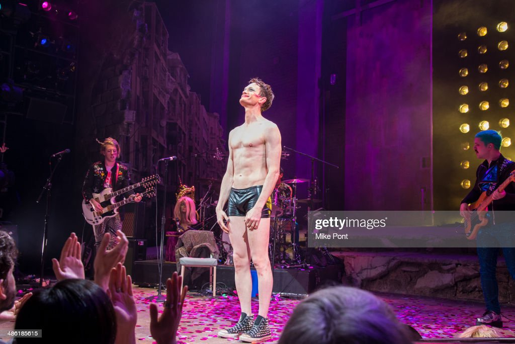 <a gi-track='captionPersonalityLinkClicked' href=/galleries/search?phrase=Neil+Patrick+Harris&family=editorial&specificpeople=210509 ng-click='$event.stopPropagation()'>Neil Patrick Harris</a> on stage during the curtain call in the Broadway opening night of 'Hedwig And The Angry Inch' at the Belasco Theatre on April 22, 2014 in New York City.