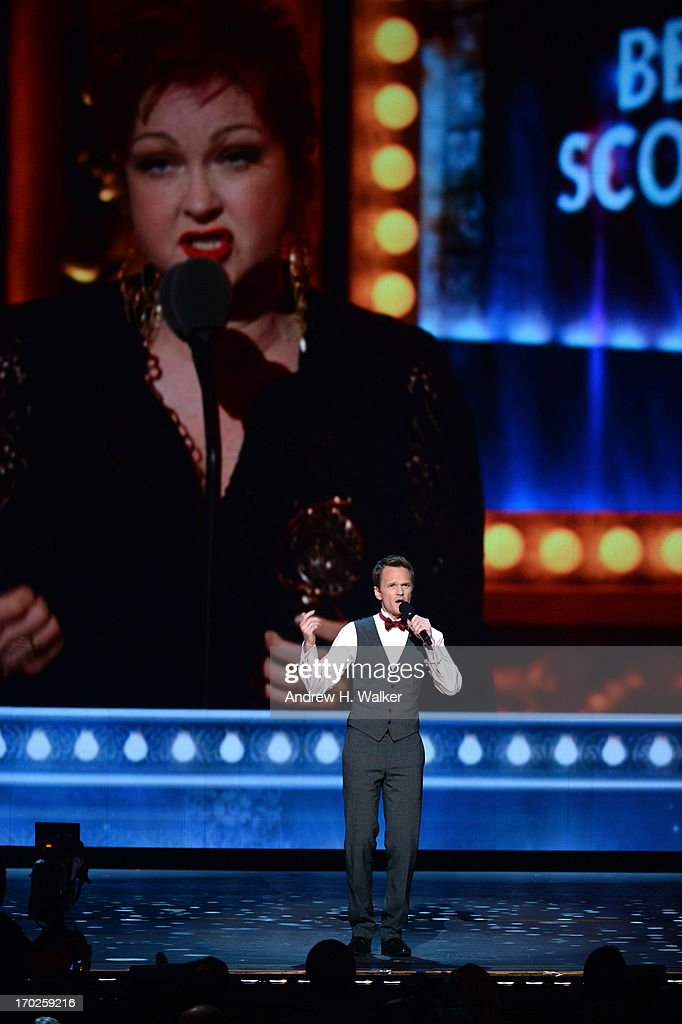 <a gi-track='captionPersonalityLinkClicked' href=/galleries/search?phrase=Neil+Patrick+Harris&family=editorial&specificpeople=210509 ng-click='$event.stopPropagation()'>Neil Patrick Harris</a> performs onstage at The 67th Annual Tony Awards at Radio City Music Hall on June 9, 2013 in New York City.