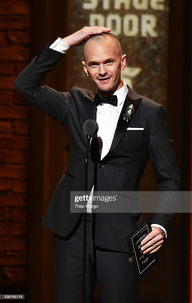 <a gi-track='captionPersonalityLinkClicked' href=/galleries/search?phrase=Neil+Patrick+Harris&family=editorial&specificpeople=210509 ng-click='$event.stopPropagation()'>Neil Patrick Harris</a> speaks onstage during the 70th Annual Tony Awards at The Beacon Theatre on June 12, 2016 in New York City.