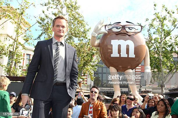 Neil Patrick Harris unveils the sixth MM's Character 'Ms Brown' held at The Grove on January 30 2012 in Los Angeles California