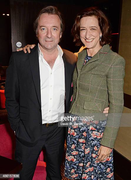 Neil Pearson and Haydn Gwynne attend the press night performance of 'Great Britain' following its transfer to the Theatre Royal Haymarket at Mint...