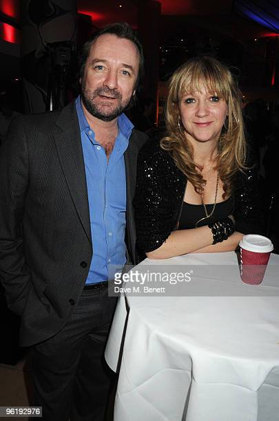 Neil Pearson and Sonia Friedman attend the Costa Book Of The Year Award 2009 at Quaglino's on January 26 2010 in London England