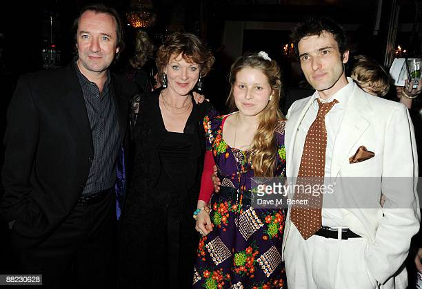 Neil Pearson Samantha Bond Jessie Cave and Ed Stoppard attend the first night after party of Tom Stoppard's play Arcadia at Jewel in Covent Garden on...