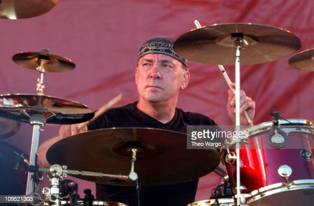 Neil Peart of Rush during Molson Canadian Rocks for Toronto Show at Downsview Park in Toronto Ontario Canada