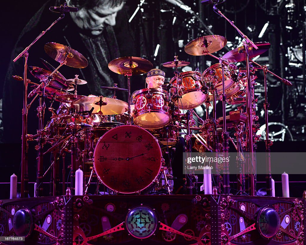 <a gi-track='captionPersonalityLinkClicked' href=/galleries/search?phrase=Neil+Peart&family=editorial&specificpeople=2133163 ng-click='$event.stopPropagation()'>Neil Peart</a> of Rush performs at BB&T Center on April 26, 2013 in Sunrise, Florida.