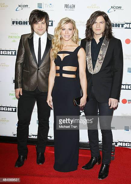 Neil Perry Kimberly Perry and Reid Perry of The Band Perry arrive at the Celebrity Fight Night XX held at JW Marriott Desert Ridge Resort Spa on...