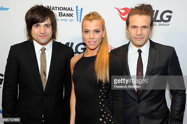 Neil Perry Kimberly Perry and Reid Perry of The Band Perry attend as Big Machine Label Group celebrates The 49th Annual CMA Awards at Rosewall on...