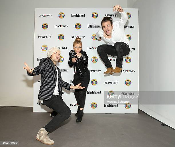 Neil Perry Kimberly Perry and Reid Perry of The Band Perry attend Entertainment Weekly's first ever 'EW Fest' presented by LG OLED TV on October 24...