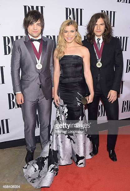 Neil Perry Kimberly Perry and Reid Perry of the Band Perry attend the 62nd annual BMI Country awards on November 4 2014 in Nashville Tennessee