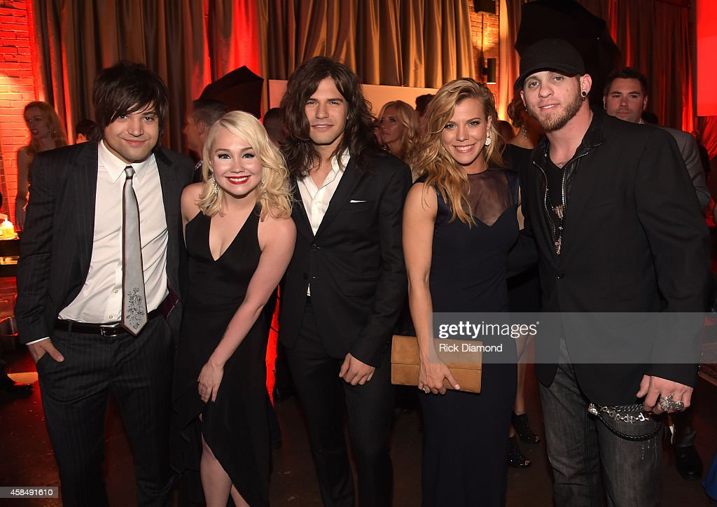 Neil Perry of The Band Perry, RaeLynn, Reid Perry and Kimberly Perry of The Band Perry, and Brantley Gilbert attend the Big Machine Label Group Celebrates The 48th Annual CMA Awards in Nashville on November 5, 2014 in Nashville, Tennessee.