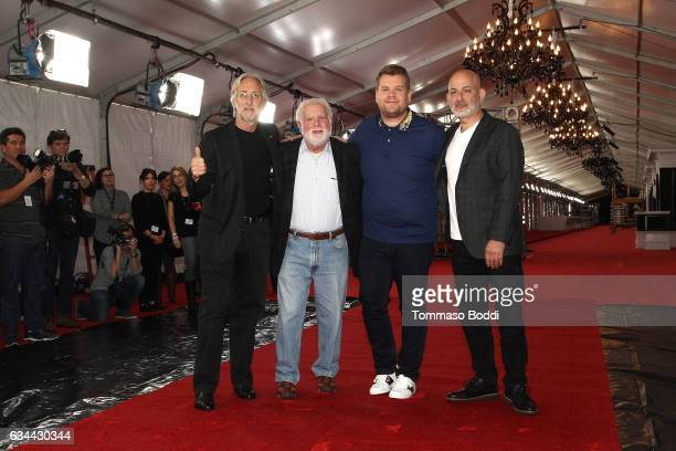 Neil Portnow Ken Ehrlich James Corden and Jack Sussman attend the Red Carpet Roll Out For The 59th Annual GRAMMY Awards at LA LIVE on February 9 2017...