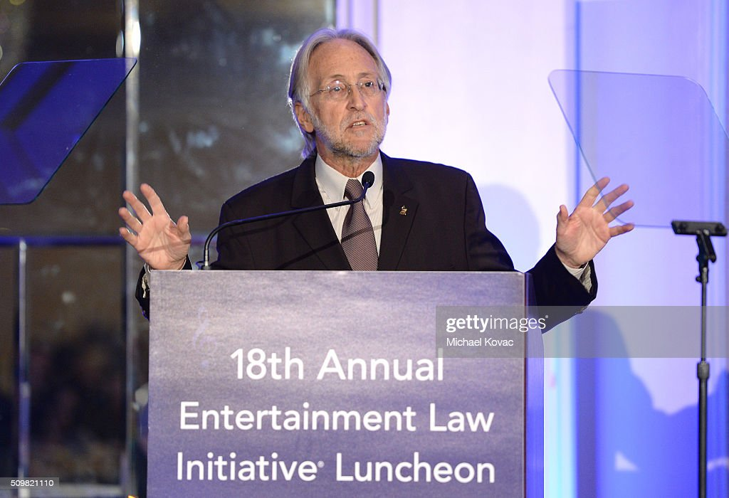 <a gi-track='captionPersonalityLinkClicked' href=/galleries/search?phrase=Neil+Portnow&family=editorial&specificpeople=208909 ng-click='$event.stopPropagation()'>Neil Portnow</a>, Presdient and CEO of the Grammy Foundation, speaks onstage at the The 58th GRAMMY Awards Entertainment Law Initiative at Fairmont Miramar Hotel on February 12, 2016 in Santa Monica, California.