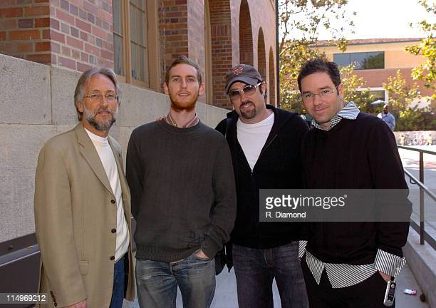 Neil Portnow president of The Recording Academy Jesse Carmichael John Shanks and Dave Meyers Photo by R Diamond/WireImage for The Recording Academy