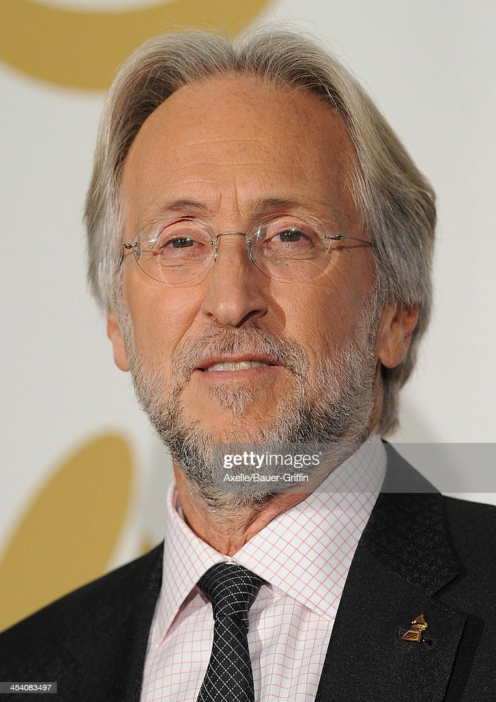 Neil Portnow, President/CEO of the Recording Academy poses in the press room at The GRAMMY Nominations Concert Live! Countdown To Music's Biggest Night at Nokia Theatre L.A. Live on December 6, 2013 in Los Angeles, California.