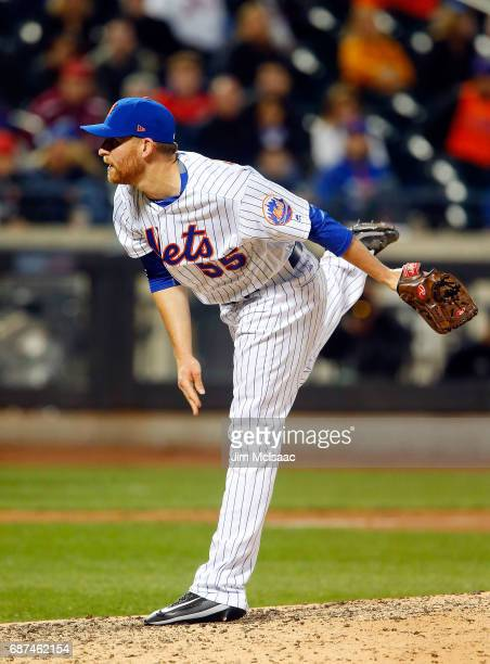 Neil Ramirez of the New York Mets in action against the Los Angeles Angels of Anaheim at Citi Field on May 20 2017 in the Flushing neighborhood of...