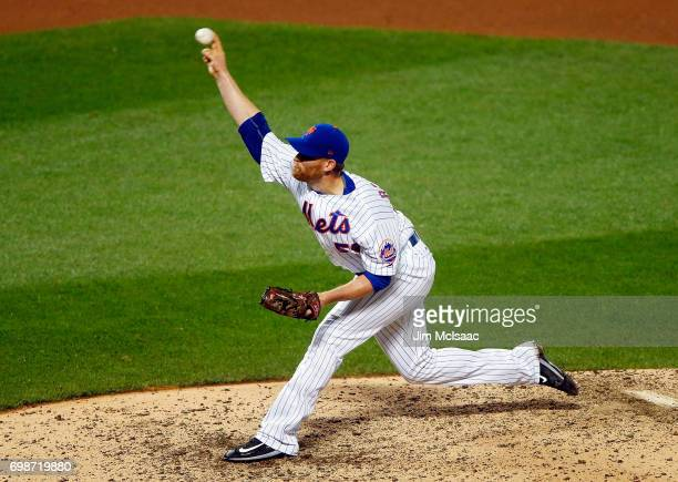 Neil Ramirez of the New York Mets in action against the Milwaukee Brewers at Citi Field on May 31 2017 in the Flushing neighborhood of the Queens...