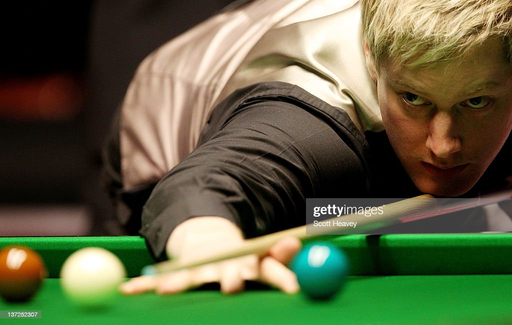 <a gi-track='captionPersonalityLinkClicked' href=/galleries/search?phrase=Neil+Robertson&family=editorial&specificpeople=668815 ng-click='$event.stopPropagation()'>Neil Robertson</a> in action during his match against Mark Allen during day three of the The Masters at Alexandra Palace on January 17, 2012 in London, England.